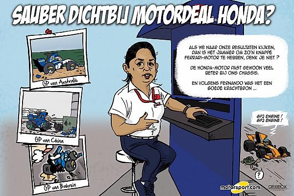 Formule 1 Special feature Cartoon van Cirebox - Sauber met Honda-motor?
