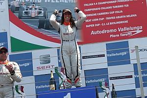 Seat Leon Cup Gara Carlotta Fedeli svetta a Vallelunga vincendo un'incredibile Gara 2