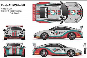 Porsche Últimas notícias Veja carro de Nelsinho e Pedro Piquet para prova da Porsche