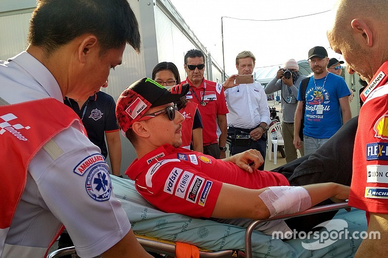 Lorenzo likely to miss Thailand race after