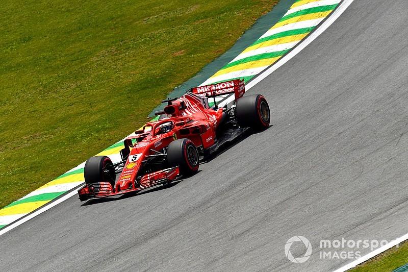 Vettel snelste in afsluitende training Brazilië, Verstappen vijfde