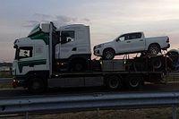 Egy autót vivő trélert vitt egy tréler Bács-Kiskunban - persze szabálytalanul