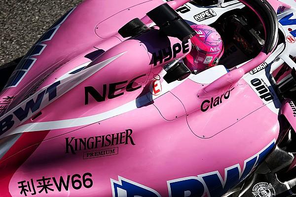 Formula 1 GALERI: Aksi mobil Force India VJM11 di tes F1 Barcelona