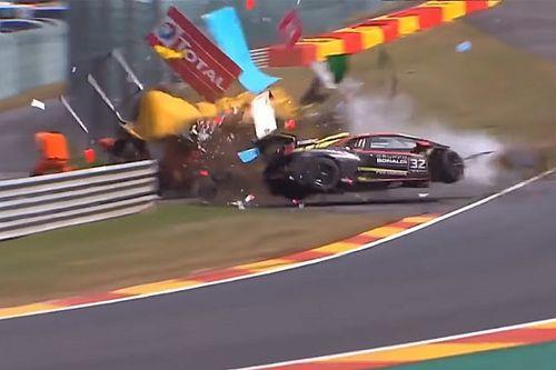 Forte acidente em Spa fere piloto e fiscal de pista