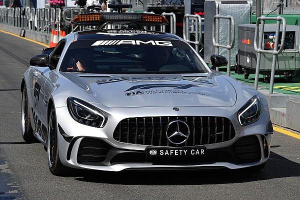 Forma-1 Motorsport.com hírek Már a pályán feszít a Forma-1 új, brutális biztonsági autója