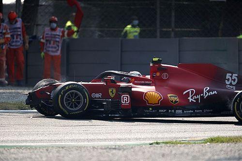 Vídeo: fortísimo accidente de Sainz en Monza