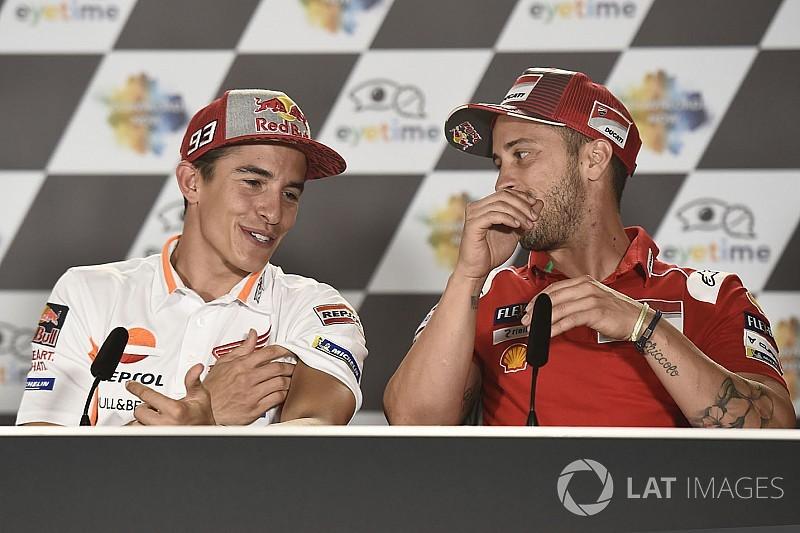 """Márquez: """"Le Ducati sono veloci e Dovi è il più forte, ma lavoro per giocarmi la vittoria con lui"""