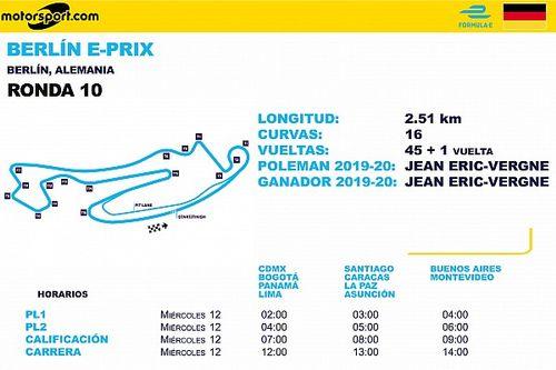 Horarios para ePrix de Berlín Ronda 10 y 11