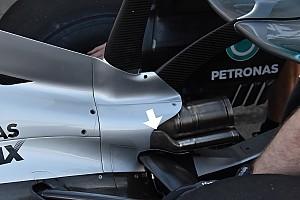 Mercedes: appiattiti gli scarichi aggiuntivi per non interferire su una leva