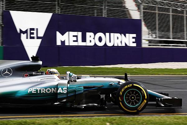 F1-Auftakt 2017 in Melbourne: 1. Bestzeit durch Lewis Hamilton im Mercedes