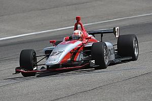 Indy Lights Résumé d'essais Nico Jamin termine les essais collectifs sur ovale en tête