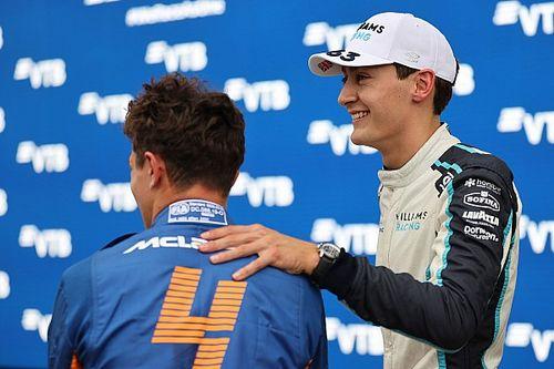 Russell ve Leclerc, Norris'e destek verdi
