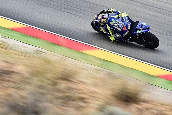MotoGP Motorsport.com hírek Rossi: pozitív péntek volt, de várjuk meg a száraz pályát