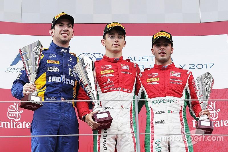 F2 Red Bull Ring: Leclerc dominasi feature race, Gelael cetak poin perdana