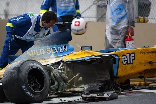 GALERÍA: el accidente de Alonso en Interlagos que lo envió al hospital
