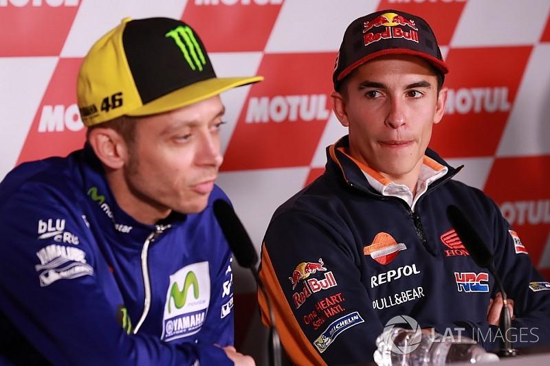 """Márquez: """"Espero que Rossi no siga mejorando con los años"""""""