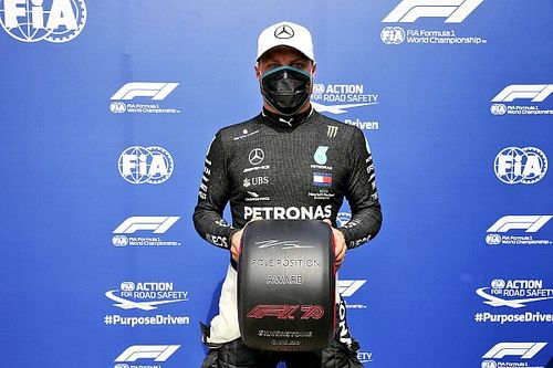 70th Anniversary GP: Bottas grabs pole as Hulkenberg stars