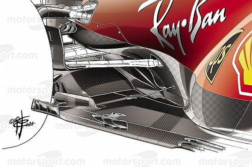 Formel-1-Technik: Die Unterboden-Updates von Ferrari