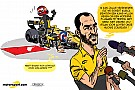 Cartoon van Cirebox - De test van Robert Kubica
