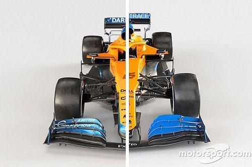 Vergleich Formel-1-Autos 2021 vs. 2020: McLaren