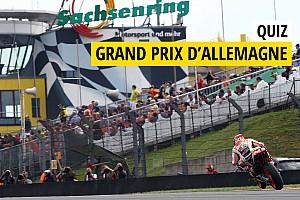 MotoGP Contenu spécial Quiz - Connaissez-vous bien le GP d'Allemagne?