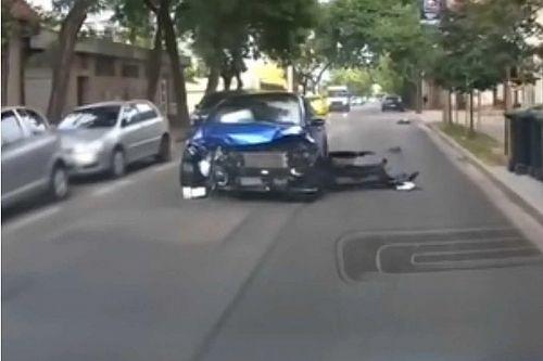 Brutális ütközés Budapesten: az egyik autó 18 másodpercig gurult magatehetetlenül