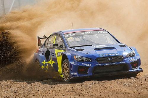 Scott Speed breaks his back in rallycross landing