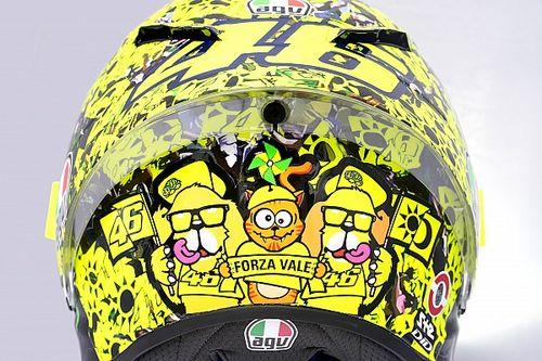 Valentino Rossi bedankt fans met speciale helm voor Emilia-Romagna GP