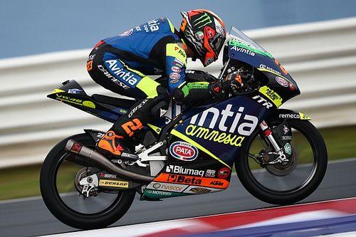 Moto3エミリア・ロマーニャ予選:アントネッリ、ウエット路面で躍動しPP。日本勢は佐々木10番手が最上位
