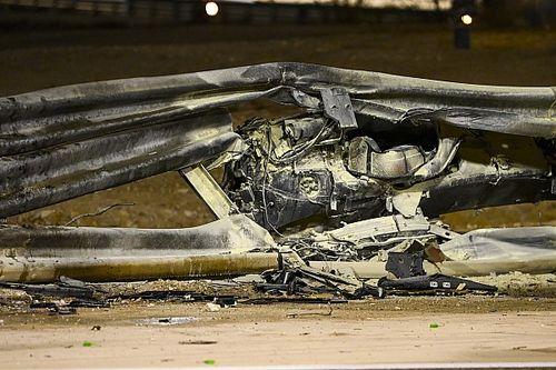 ベッテル、グロージャンの事故に衝撃「ガードレールがあんな壊れ方をしてはいけない」