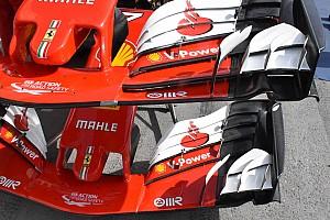 Ferrari: nuova ala anteriore con due slot nel profilo principale