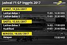 Jadwal lengkap F1 GP Inggris 2017