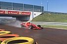 Giovinazzi a Fiorano sulla Ferrari SF70H per il test Pirelli sul bagnato
