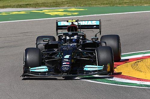 Bottas snelste tijdens incidentrijke eerste training in Imola