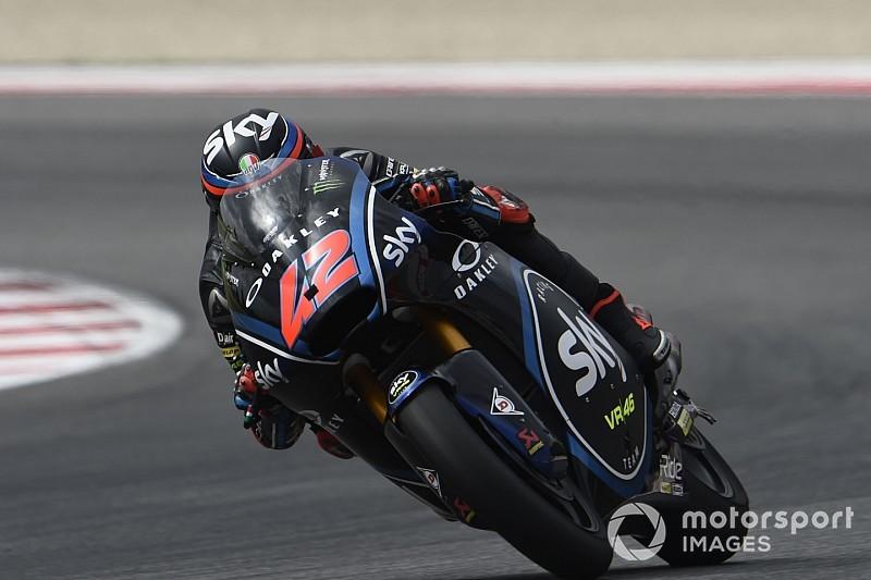 Moto2 Aragon: Bagnaia op stoom met snelste tijd, Bendsneyder 25ste