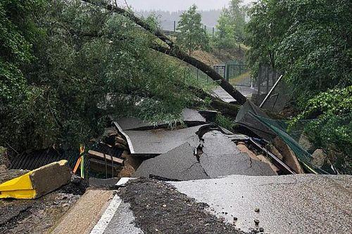 Circuit Spa-Francorchamps opnieuw getroffen door noodweer