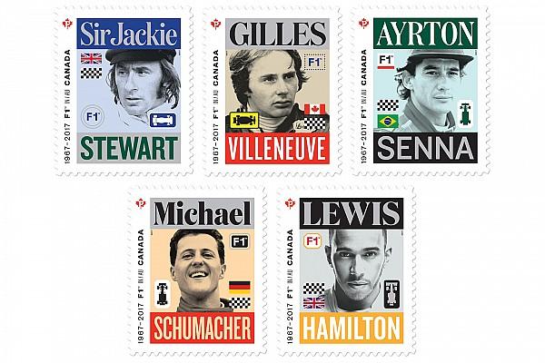 Победителей Гран При Канады изобразили на почтовых марках