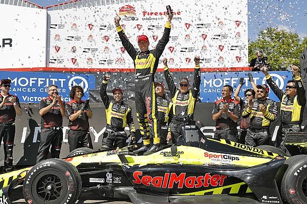 A legvégén jött a dráma az IndyCar szezonnyitóján, Bourdais nyert St. Pete-ben!
