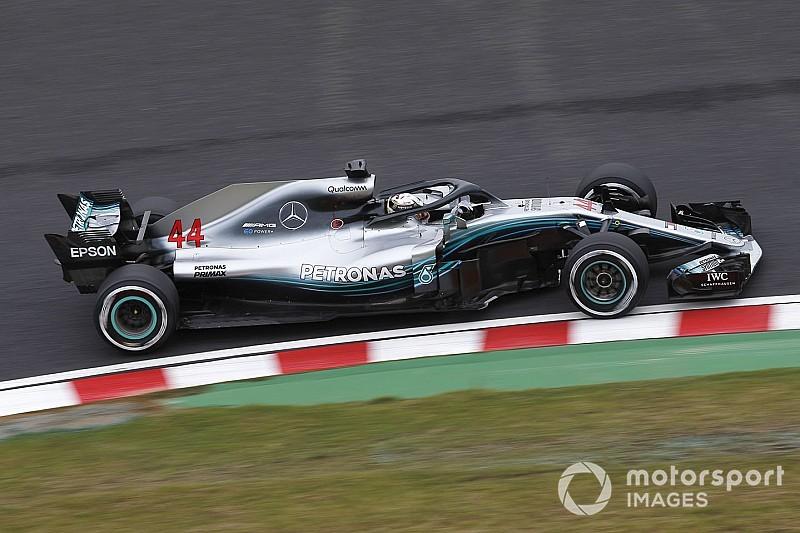 Japonya GP 1. antrenman: Hamilton ve Mercedes hızlı başladı