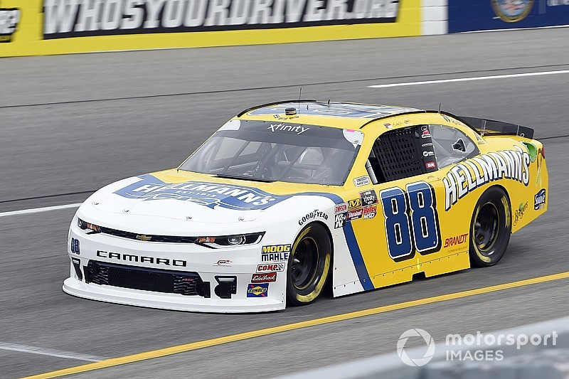 "Dale Jr. ""got bored"", almost missed Xfinity practice on comeback"