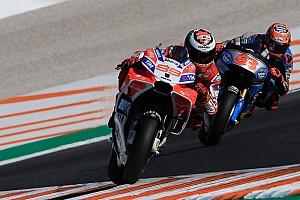 MotoGP Prove libere Valencia, Libere 2: Ducati ok con Lorenzo primo e Dovi terzo, cade Marquez