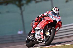 MotoGP Practice report Sachsenring MotoGP: Lorenzo tops FP2, Rossi 17th