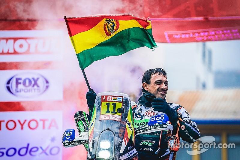 Juan Carlos Salvatierra quedó fuera del Dakar 2019