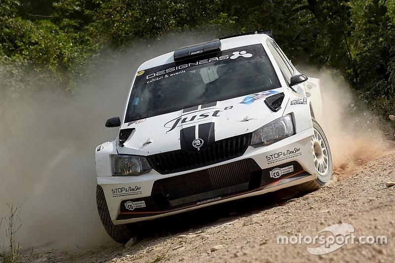 Luca Hoelbling al debutto al Rally Nido dell'Aquila su Skoda Fabia R5