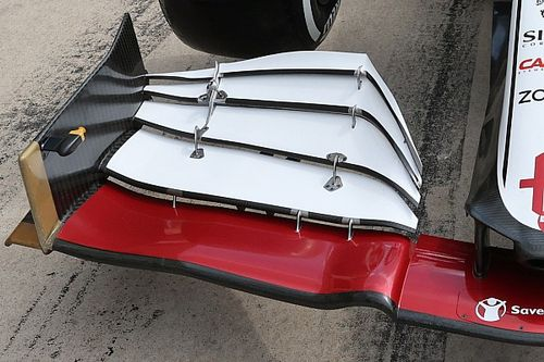 Alfa Romeo: c'è un inedito flap dell'ala anteriore
