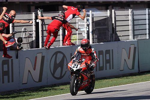 Defying Ducati tyre advice key to Rinaldi's Barcelona win