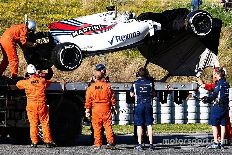 Williams досрочно завершила тесты из-за повреждения машины