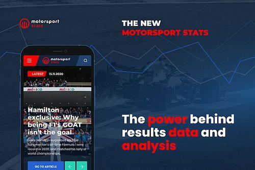 """إعادة إطلاق موقع """"إحصائيات موتورسبورت"""" بشكل جديد وميزات متميزة"""