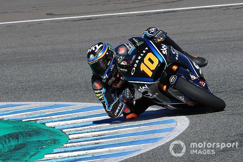 Test Moto2 Jerez, Giorno 2: Marini cade, ma è il più veloce prima della pioggia