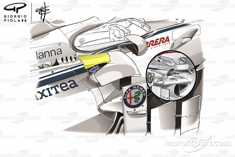 Análisis técnico: Sauber presenta su mayor actualización hasta el momento